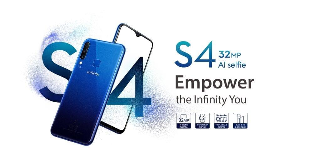 Infinix S4: 3 Back Cameras, 32MP Selfie Camera, Glass Design now Official